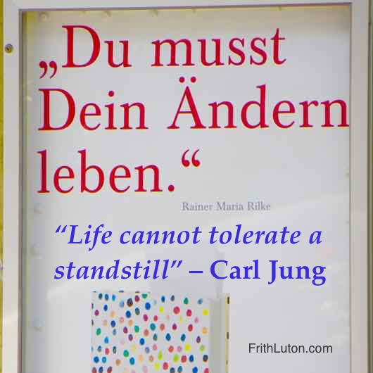 "Quote from Carl Jung regarding the Transcedent Function: ""Life cannot tolerate a standstill."""