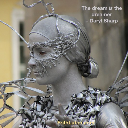 The dream is the dreamer. Each element in a dream refers to an aspect of the dreamer's own personality, which means that the people in our dreams are personifications of our complexes. – Daryl Sharp