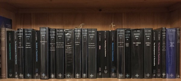 Collected Works of CG Jung on library shelf