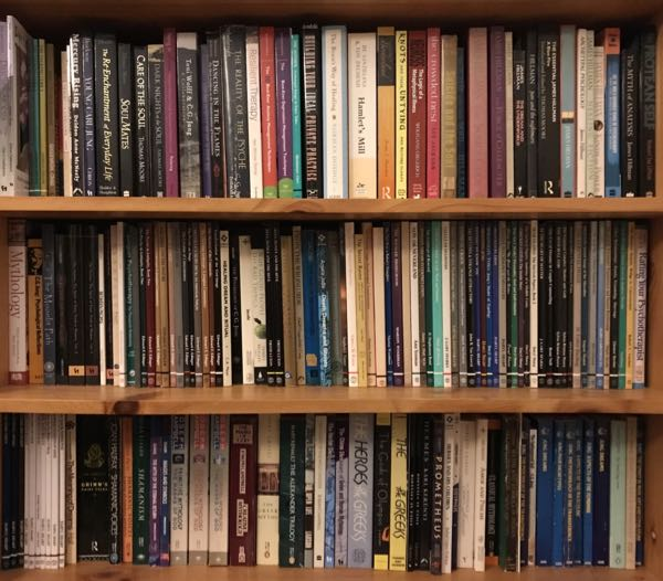 A selection of books about Jung and psychological and mythological texts related to Jungian psychology by a range of authors